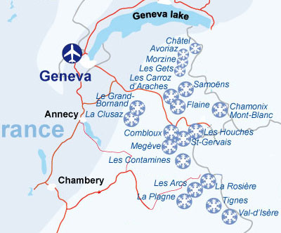 Flying to Geneva - ski resorts near GVA